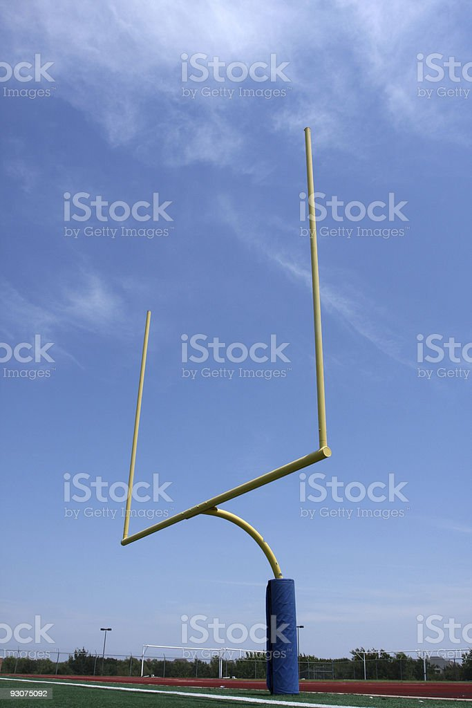 American Football Goal Posts royalty-free stock photo