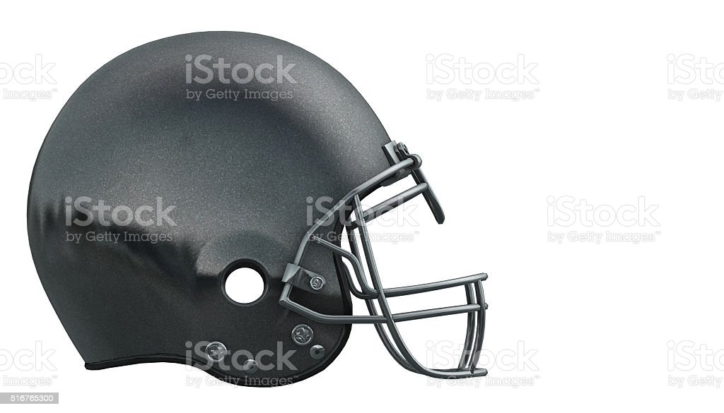 American football helmet isolated on white stock photo