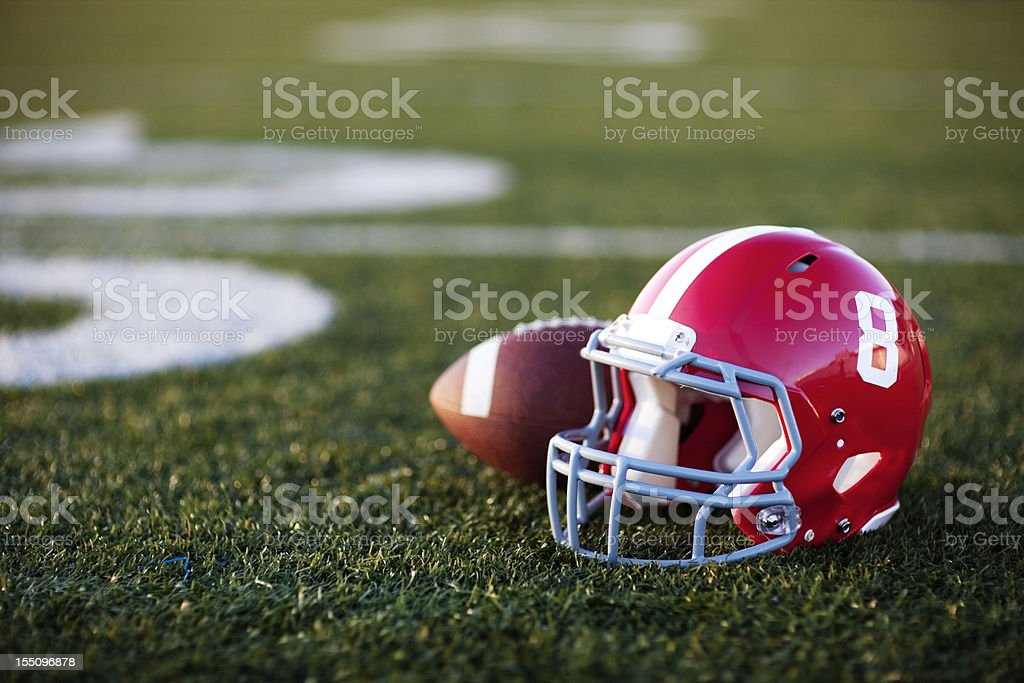 American Football Helmet stock photo
