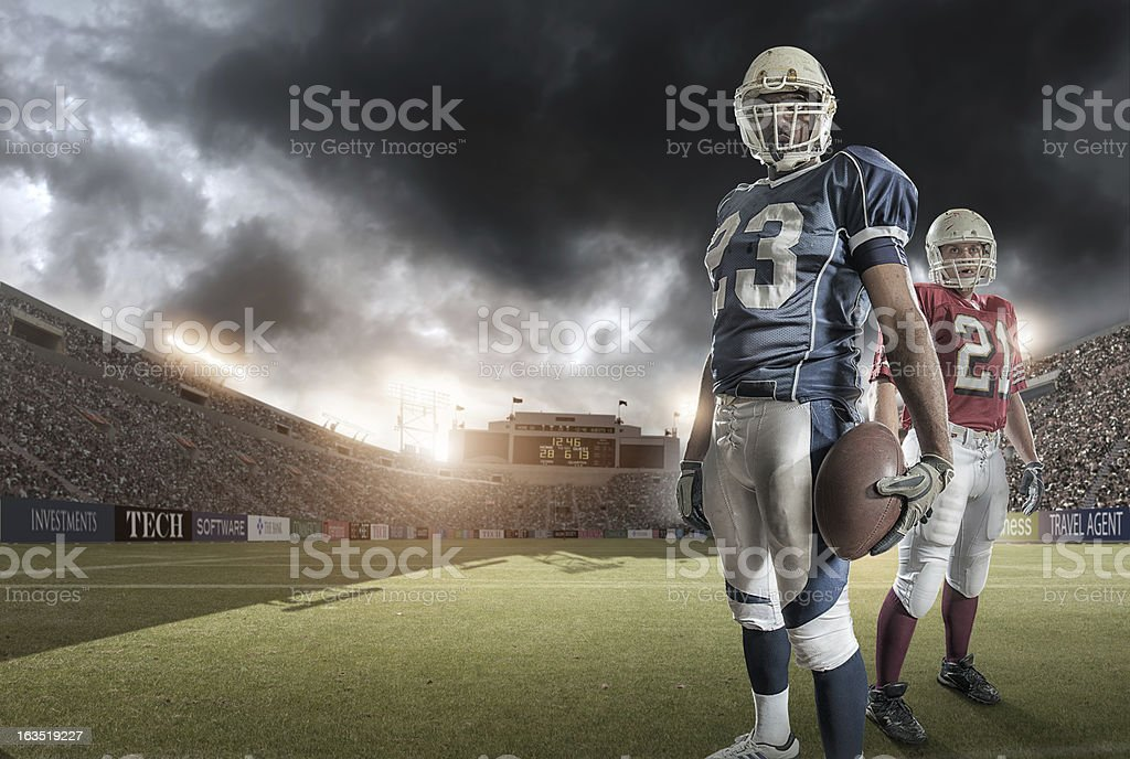 American Football Heroes royalty-free stock photo