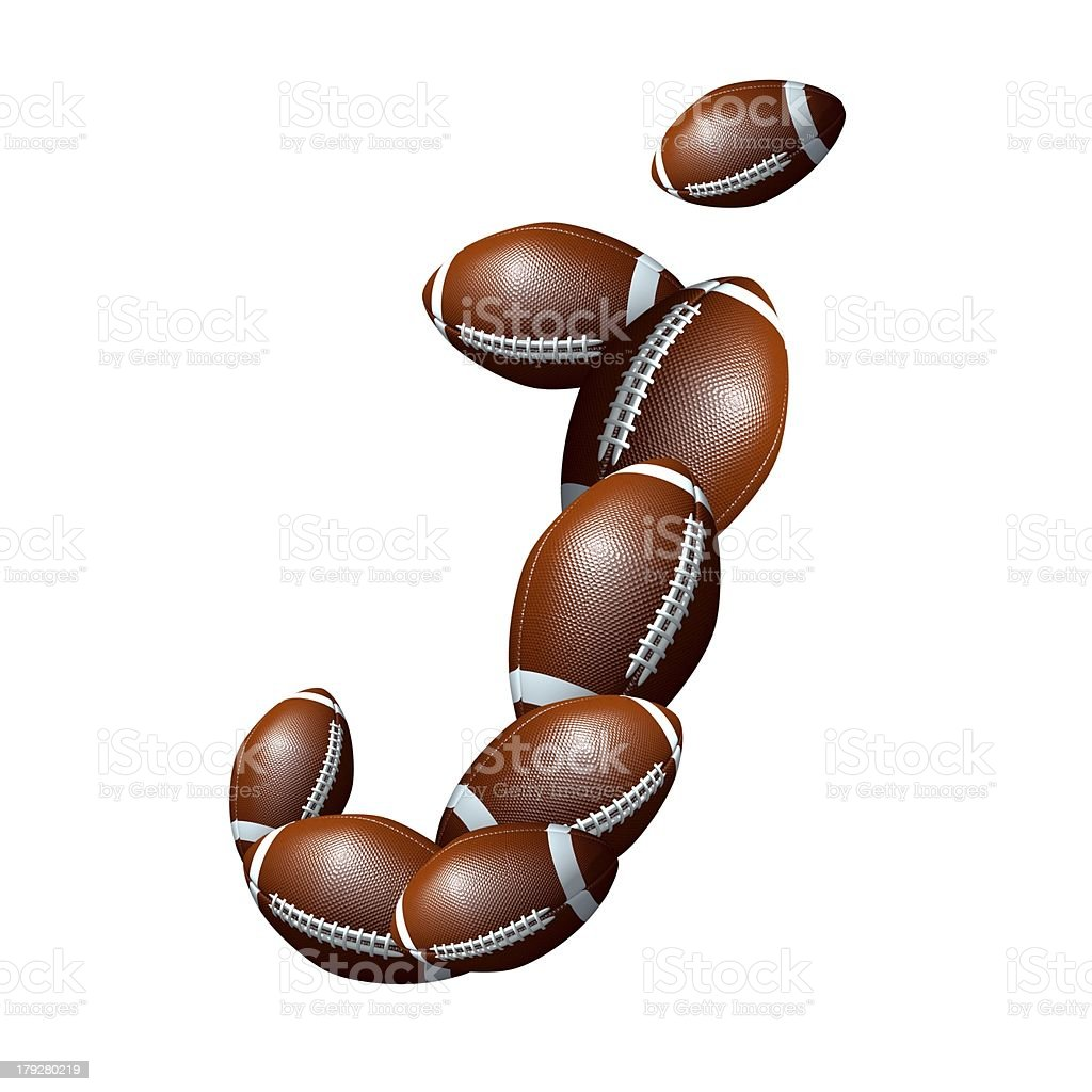 american football icon alphabet capital letter I royalty-free stock photo