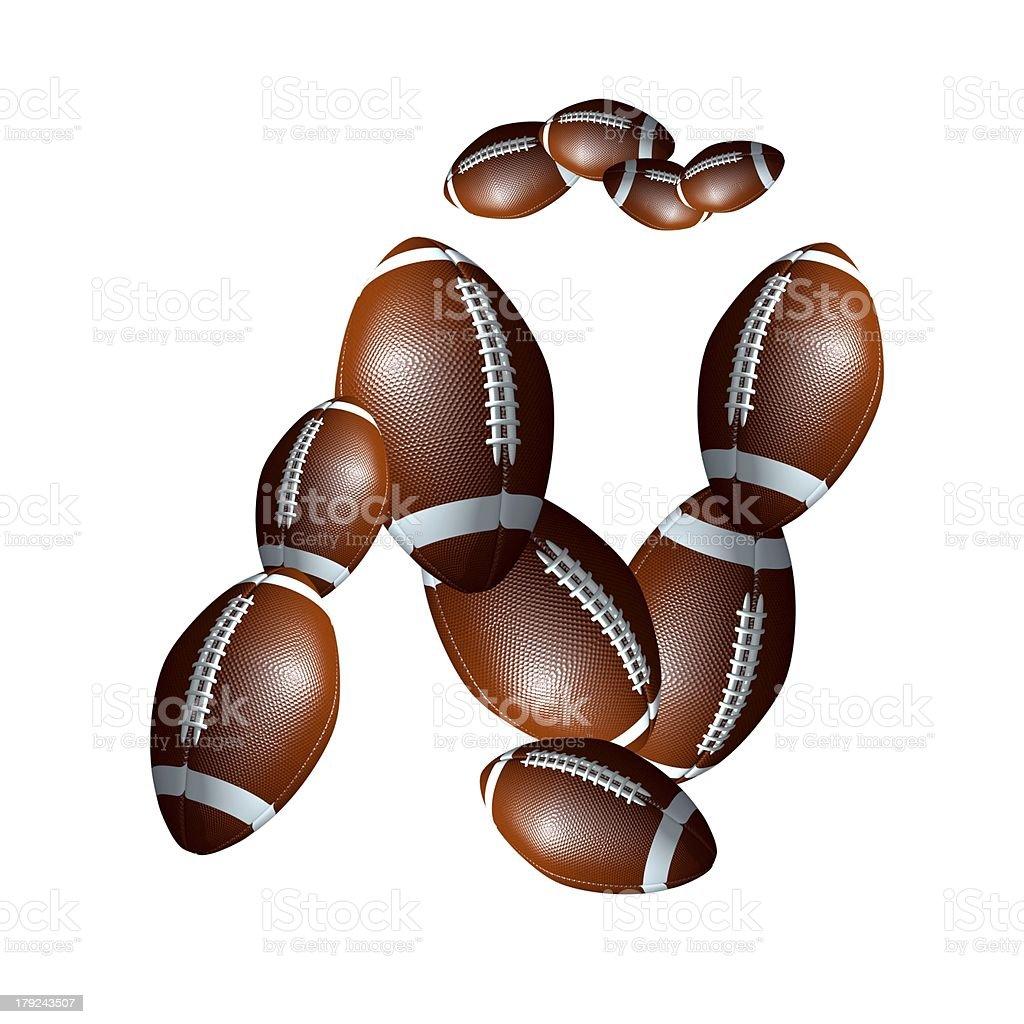 american football icon alphabet capital letter Ñ royalty-free stock photo