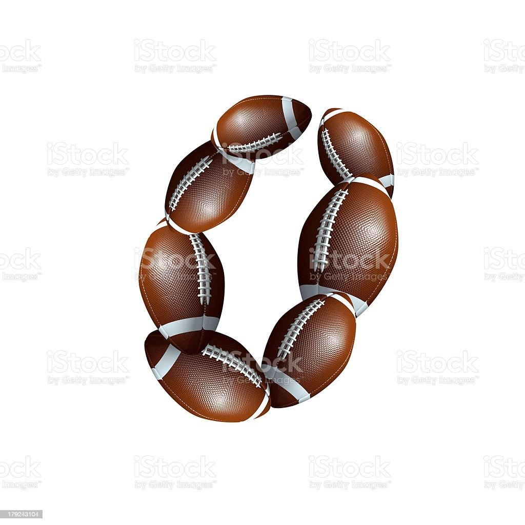 american football icon number 0 royalty-free stock photo