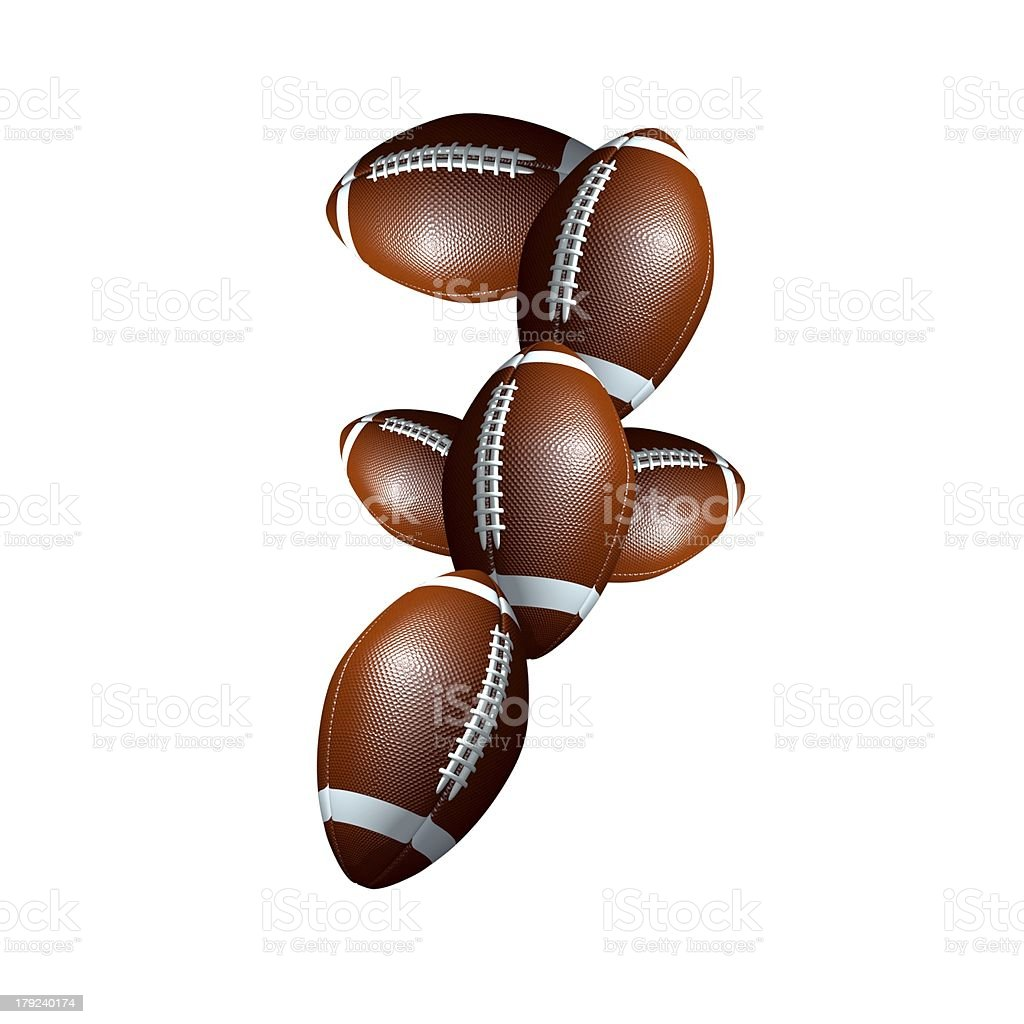 american football icon number 7 royalty-free stock photo