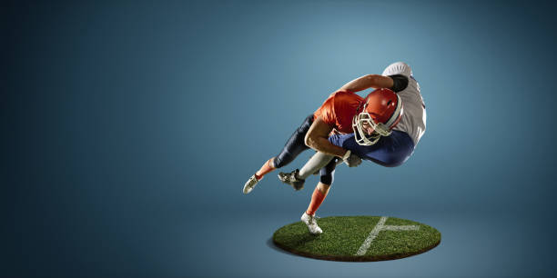 American-football in Aktion – Foto