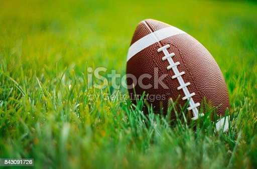 American Football in grass