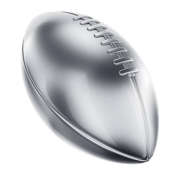 American-football in Silber – Foto