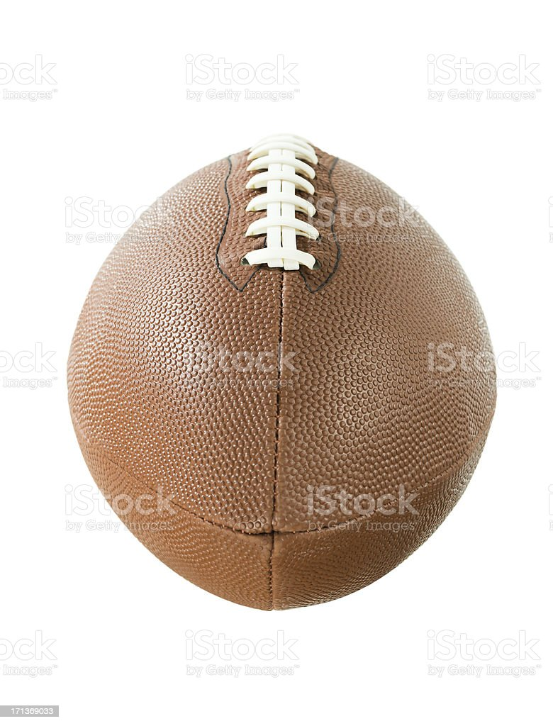 American Football, Isolated on White royalty-free stock photo