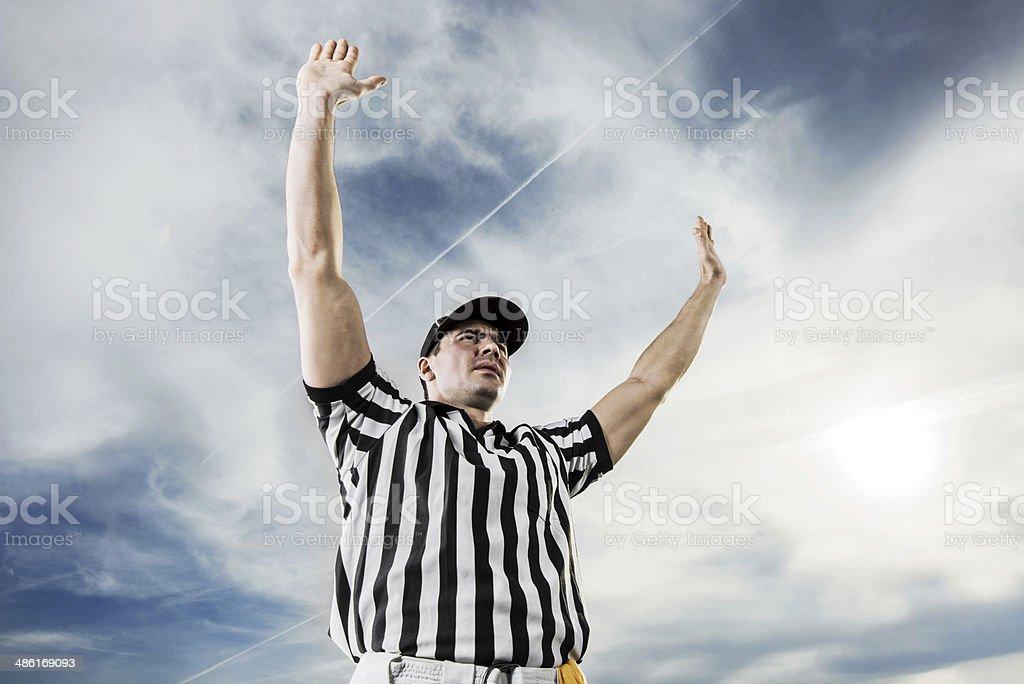 Juiz de futebol americano. - foto de acervo
