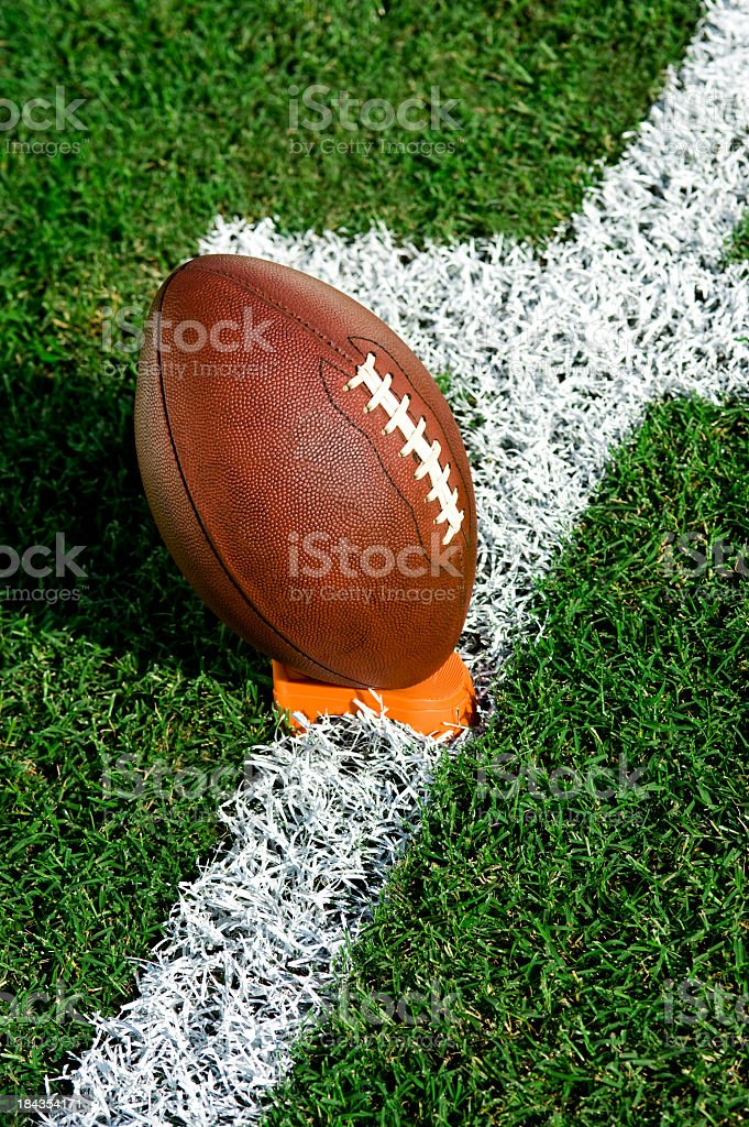 American Football Kick Off royalty-free stock photo