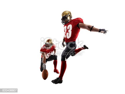 American football player isolated