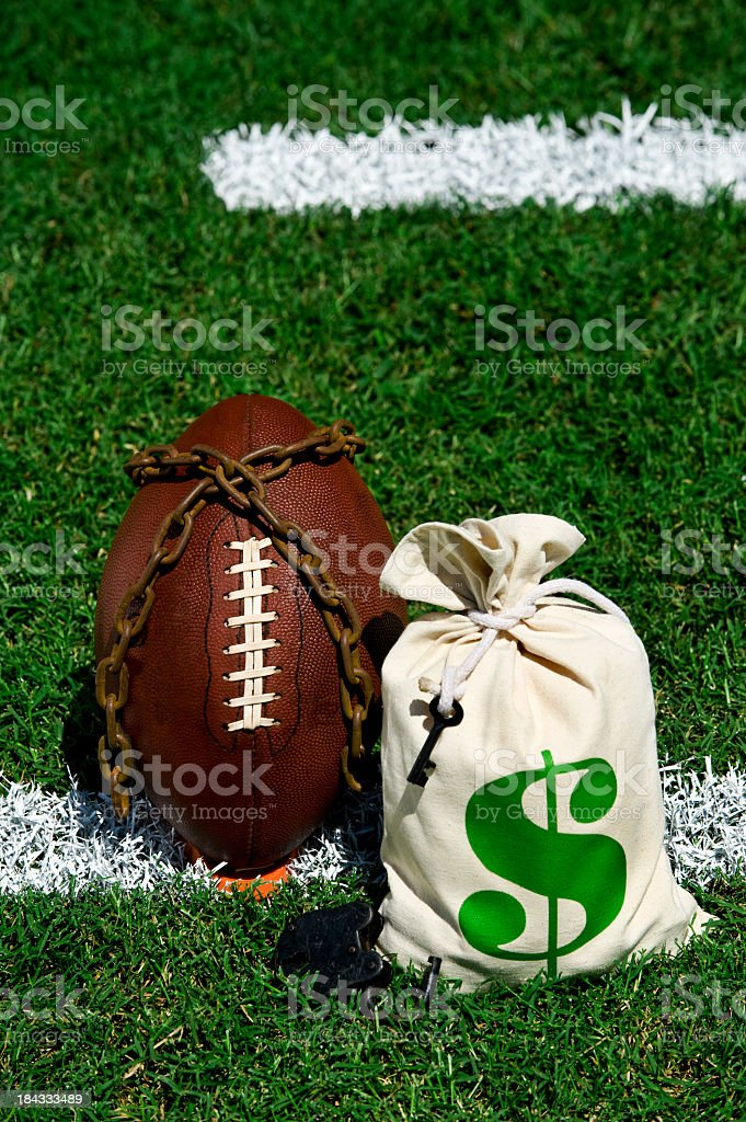 American Football Lockout stock photo