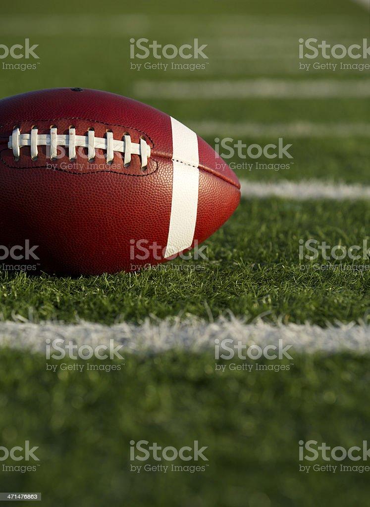 American Football near Yard Lines stock photo