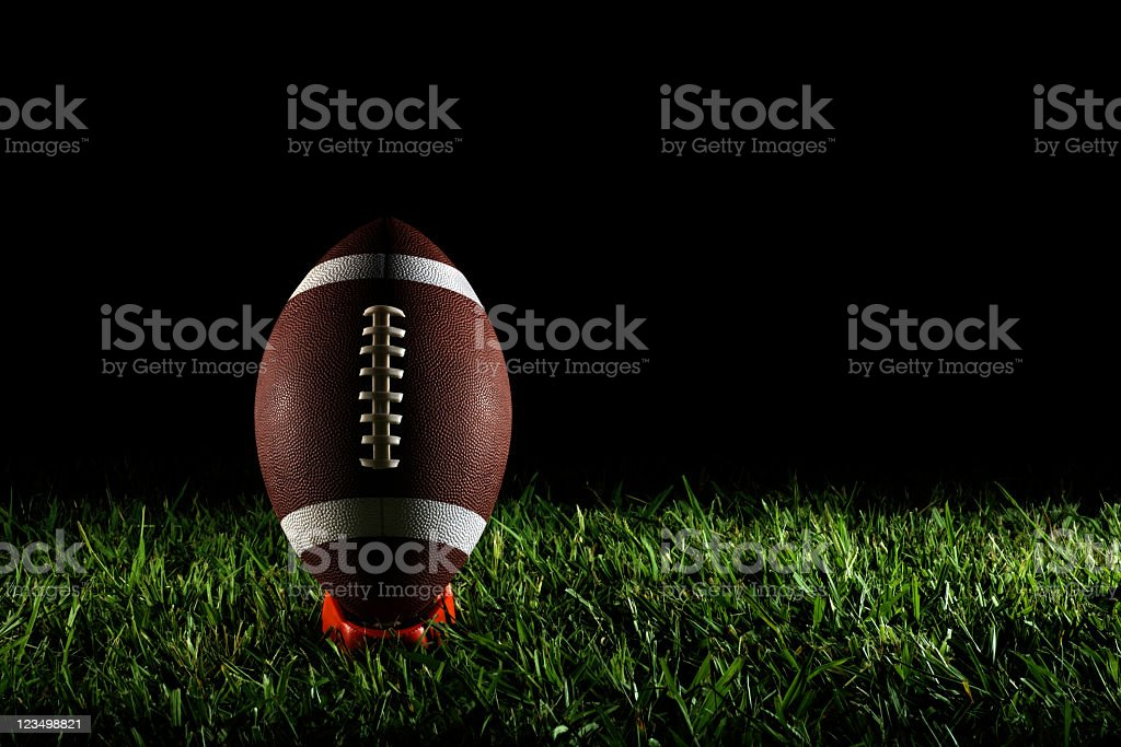 American Football on a Tee royalty-free stock photo
