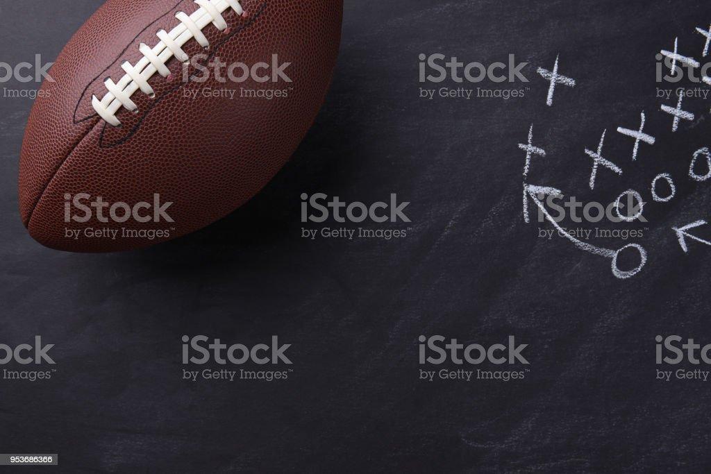 Football américain sur tableau noir - Photo