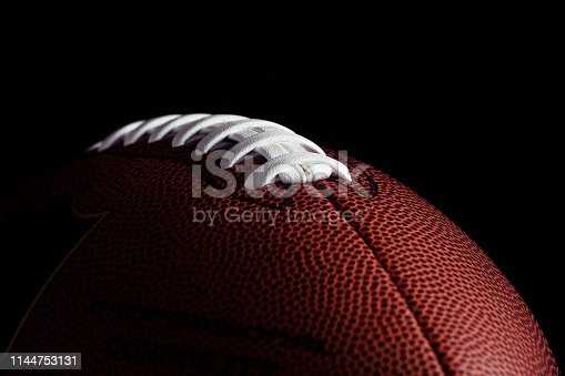 istock American football on dark background 1144753131