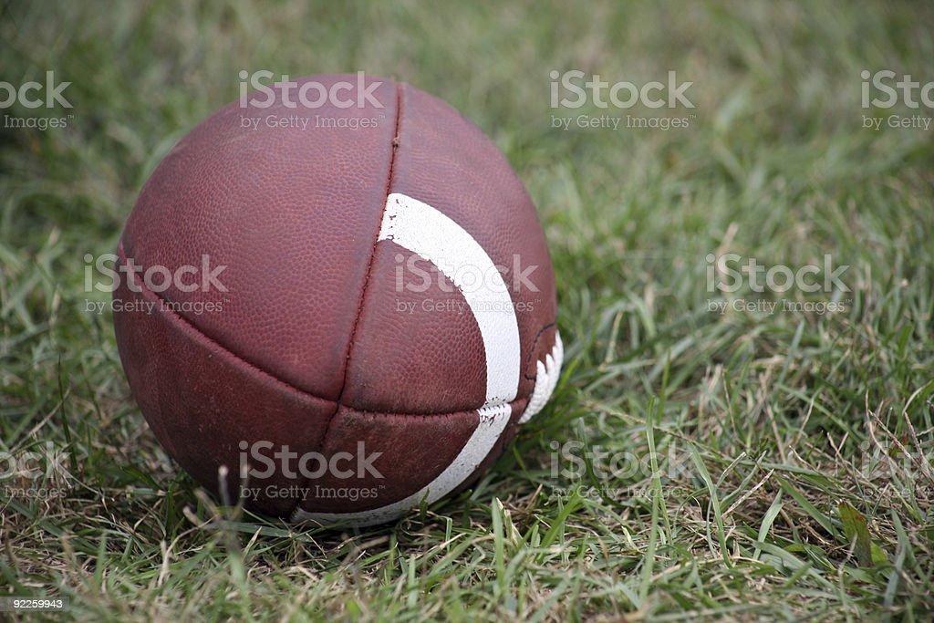 American Football On Grass Field #2 stock photo