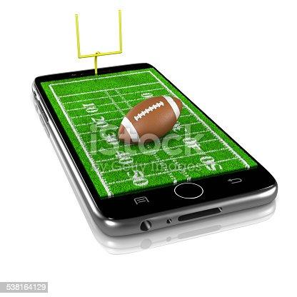 952196272 istock photo American Football on Smartphone, Sports App 538164129