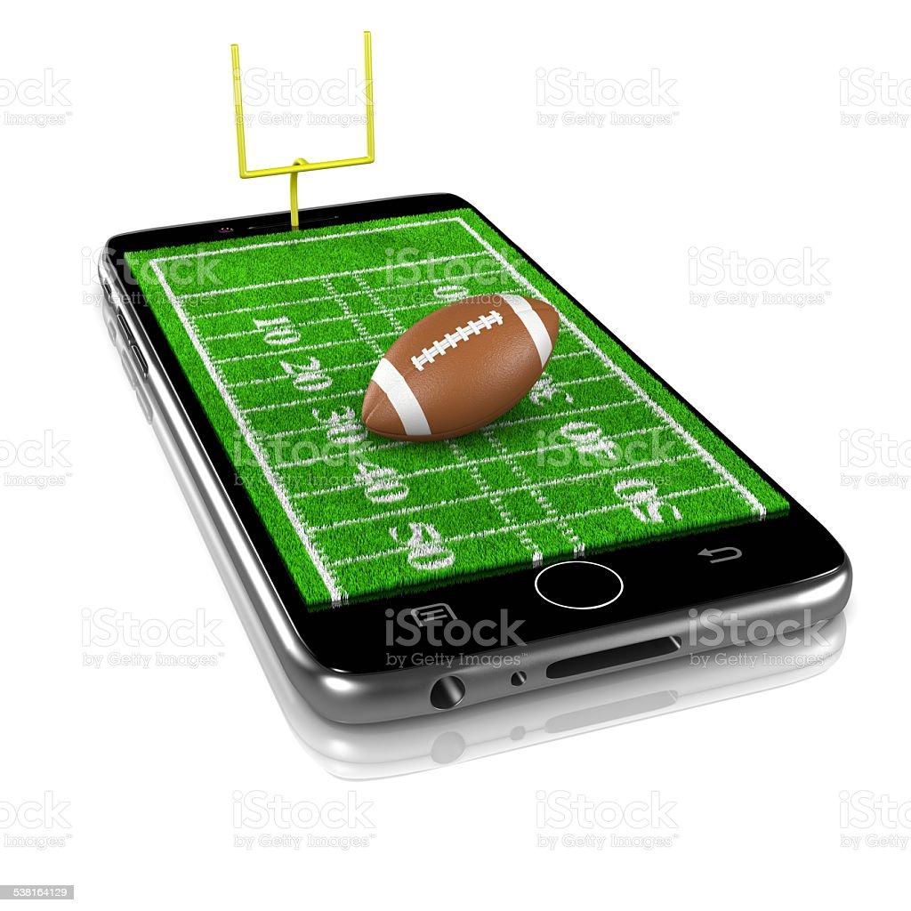 American Football auf Smartphone, sport App – Foto