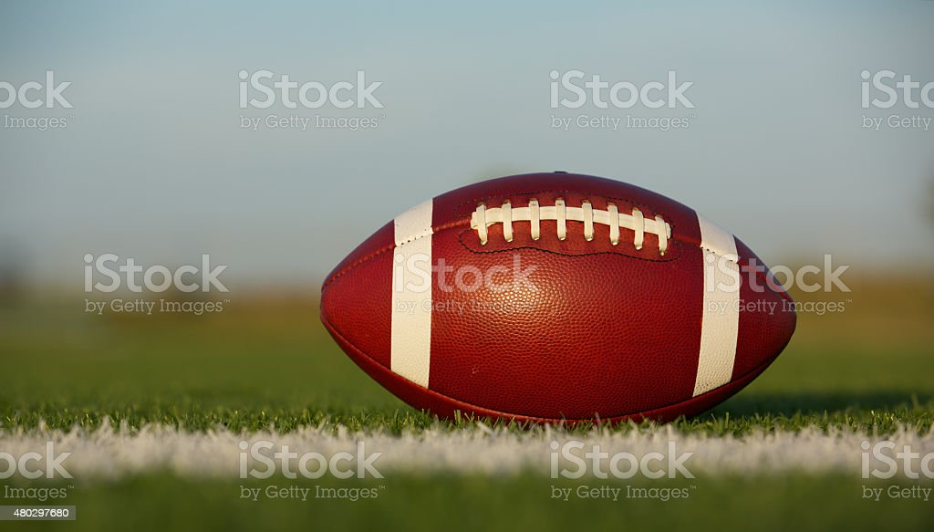 American Football on the Field stock photo