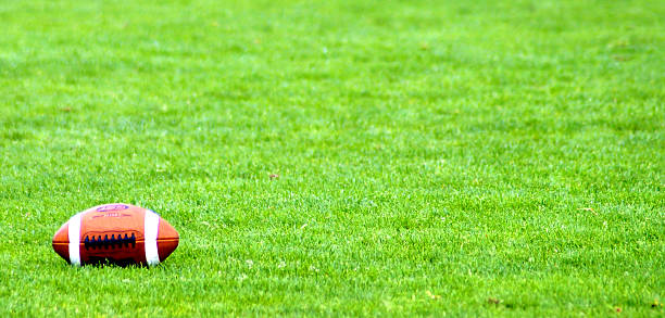 American Football on the ground American Football on the ground canadian football league stock pictures, royalty-free photos & images