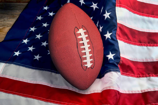 american football. - national anthem stock photos and pictures