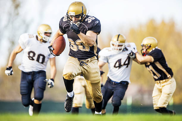 american football. - american football player stock photos and pictures