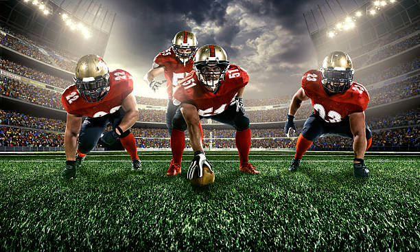 American football American football line of scrimmage stock pictures, royalty-free photos & images