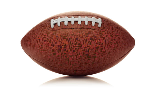 american football (clip path) - amerikanischer football stock-fotos und bilder