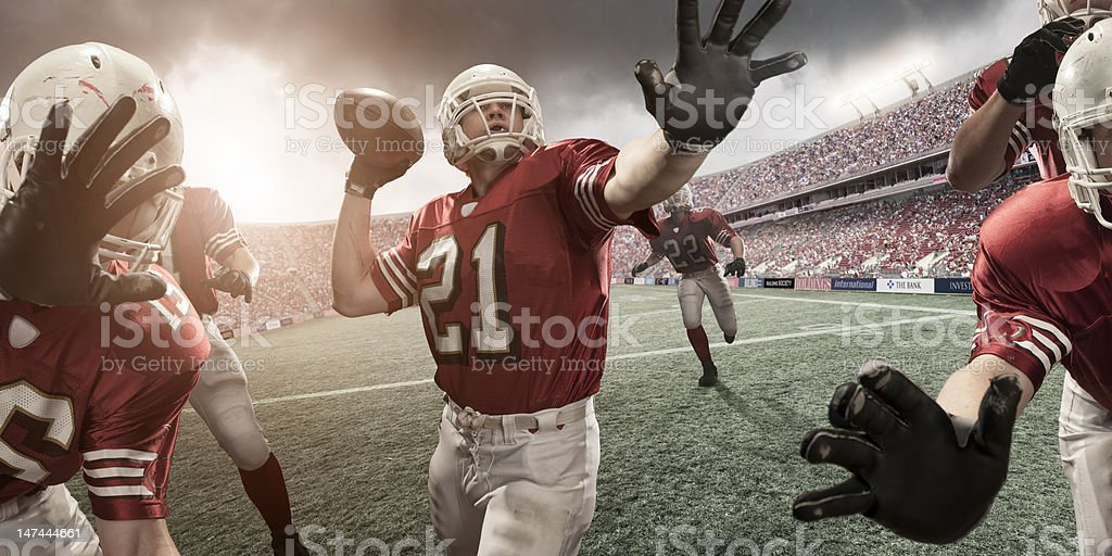 American Football Player About to Throw royalty-free stock photo