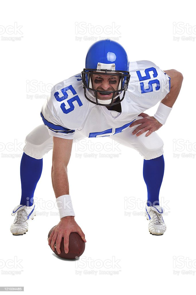 American football player cut out royalty-free stock photo