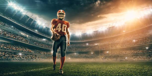 American-Footballspieler in Aktion – Foto