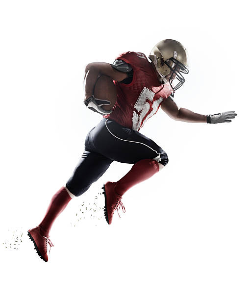 american football player isolated - american football player stock photos and pictures