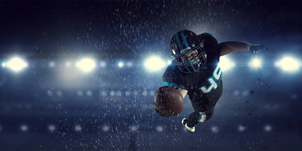 american football player . mixed media - american football player stock photos and pictures