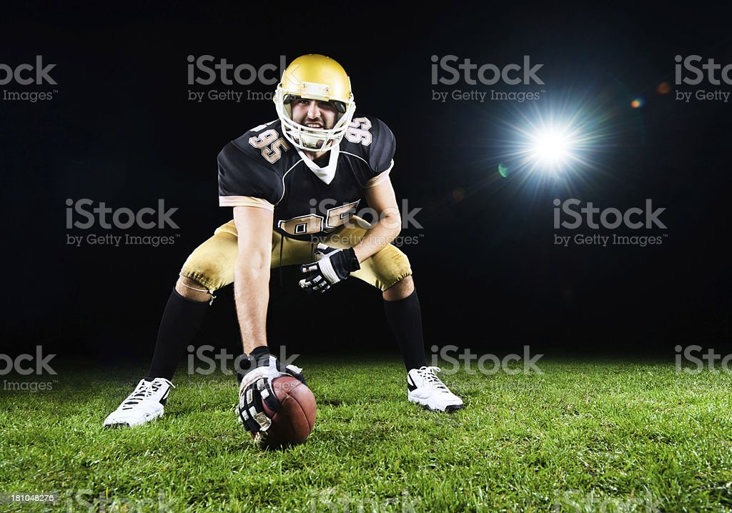 American football player. royalty-free stock photo