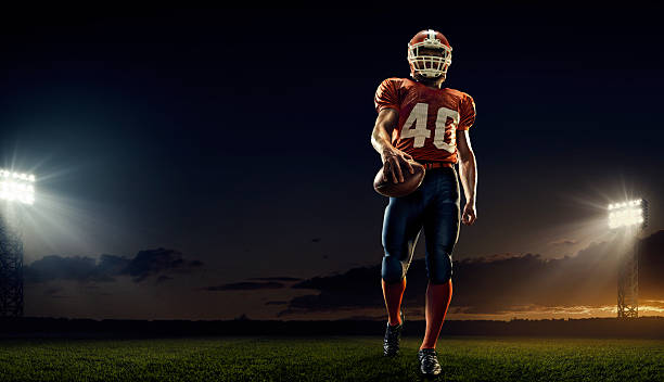 american football player - american football player stock photos and pictures