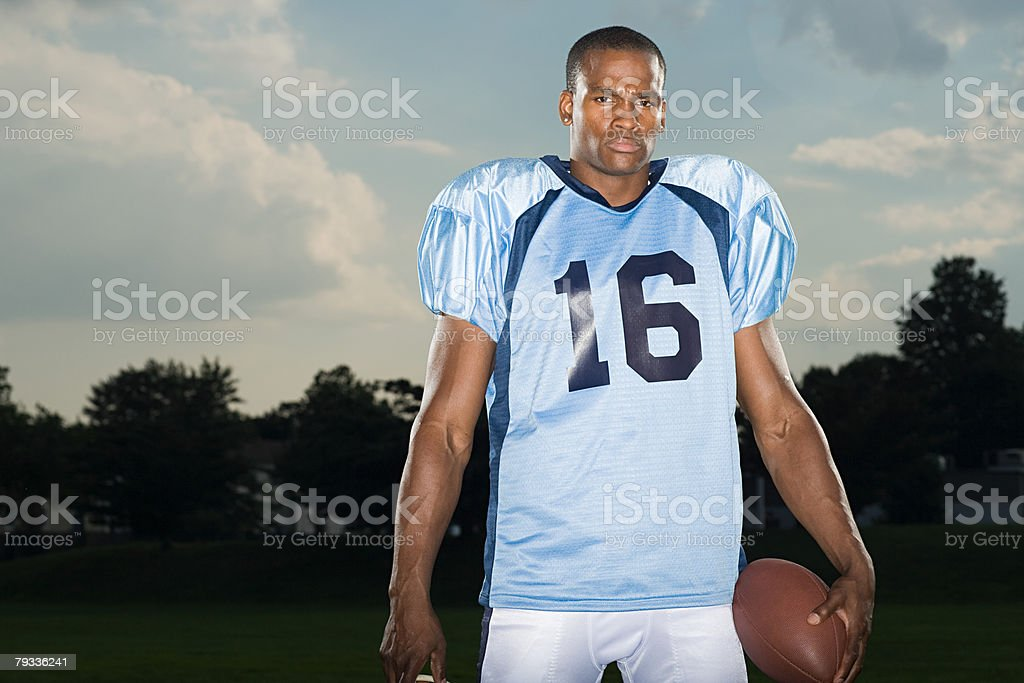 American football player royalty-free 스톡 사진