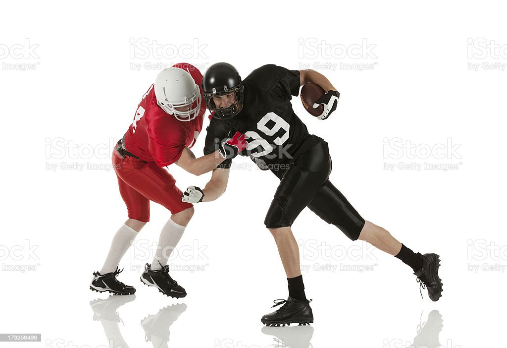 American football players in action royalty-free stock photo