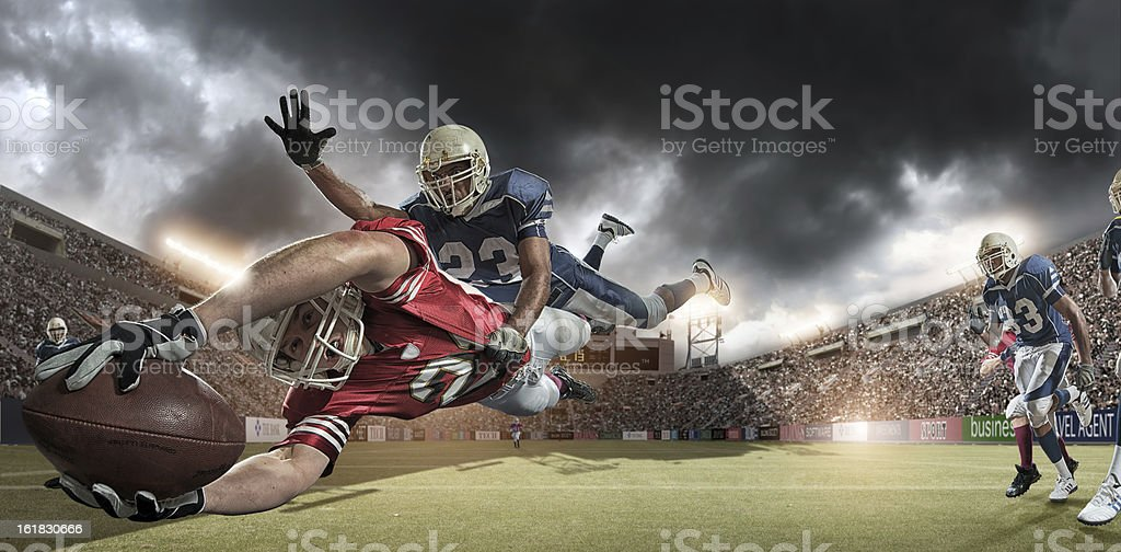 american football players stock photo