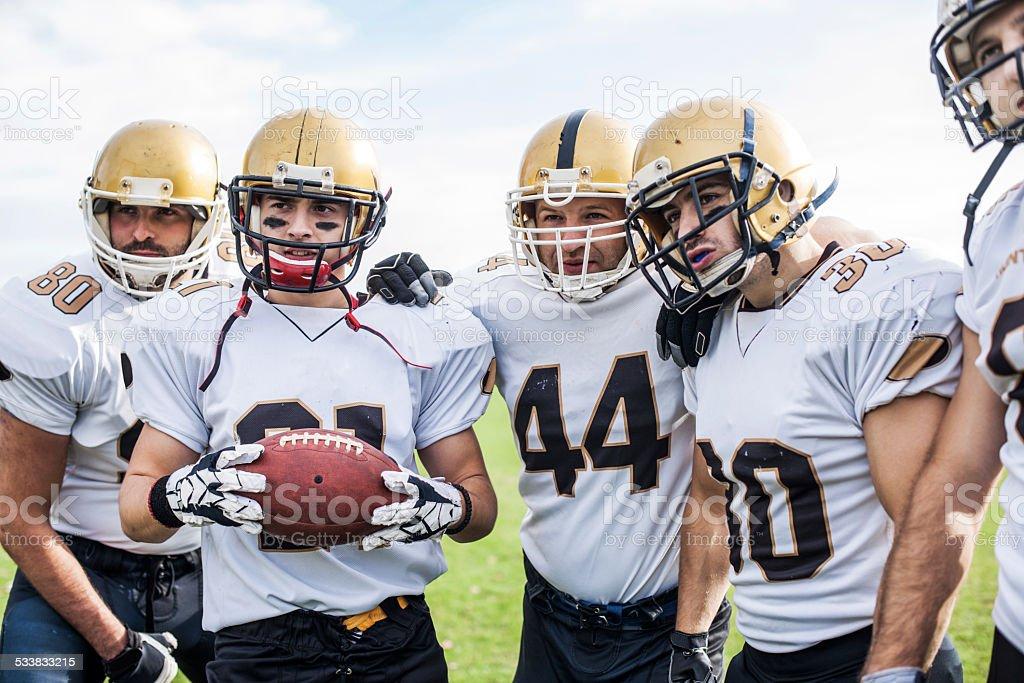 American football players. stock photo