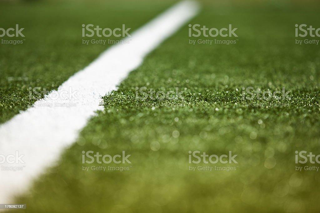 American football playing turf royalty-free stock photo