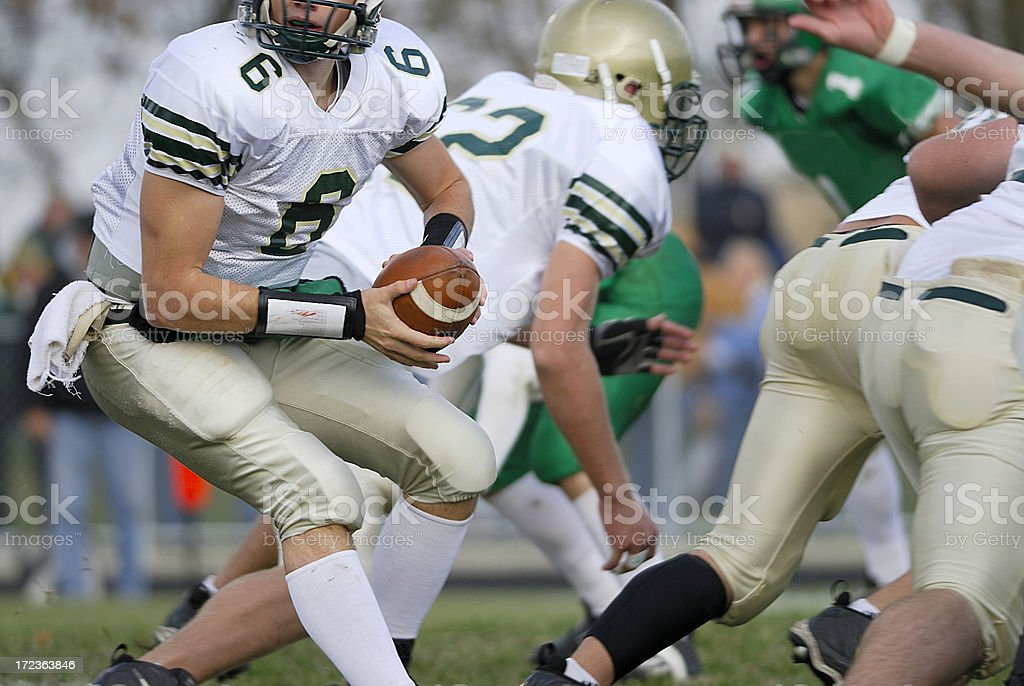 American Football, quarterback royalty-free stock photo