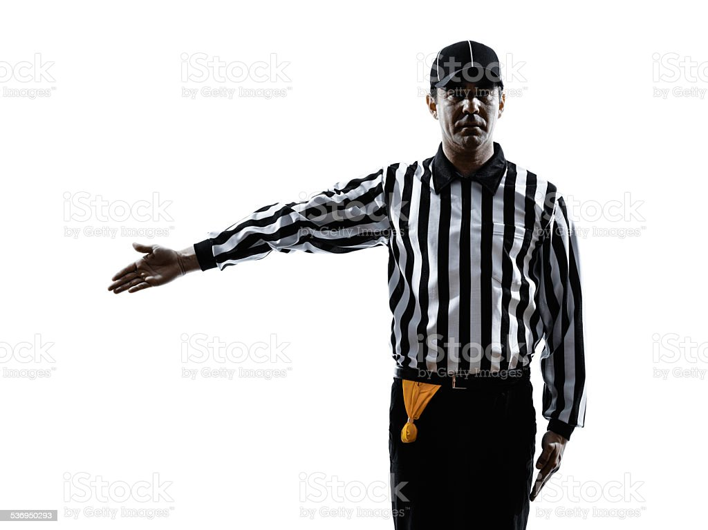 american football referee gestures silhouette stock photo