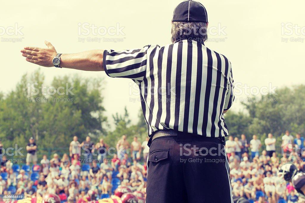 American football referee stock photo
