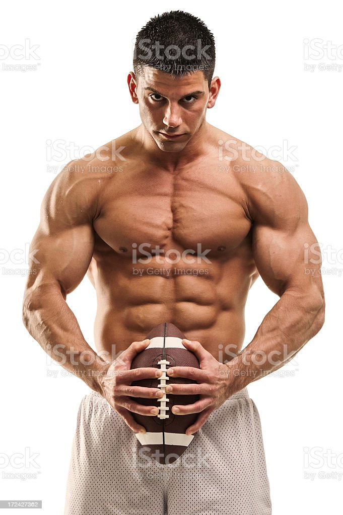 American Football, Rugby Player royalty-free stock photo