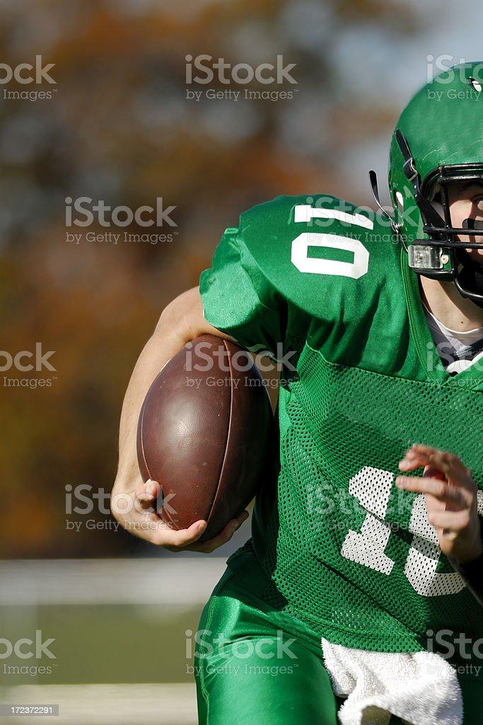 American Football running back. royalty-free stock photo