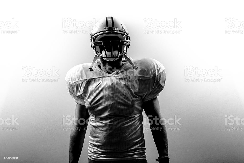 American Football RunningBack Power stock photo