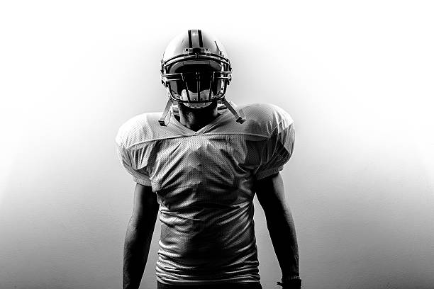 american football runningback power - american football player stock photos and pictures