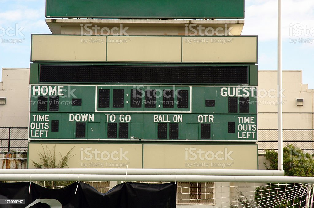American Football Scoreboard royalty-free stock photo