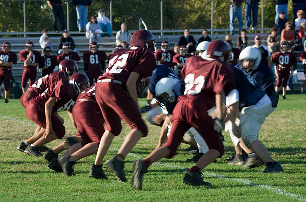 American Football Series  line of scrimmage stock pictures, royalty-free photos & images